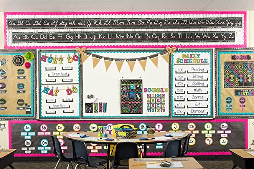 Teacher Created Resources Chalkboard Brights Alphabet Line Bulletin Board (5621)