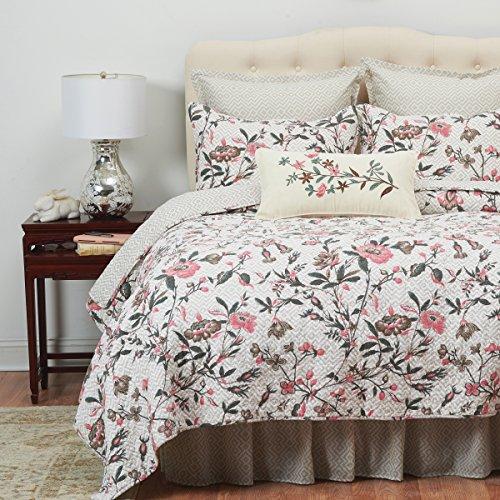 C&F Home Blair Garden Tan Floral Cotton 3 Piece King Quilt Set King 3 Piece Set ()