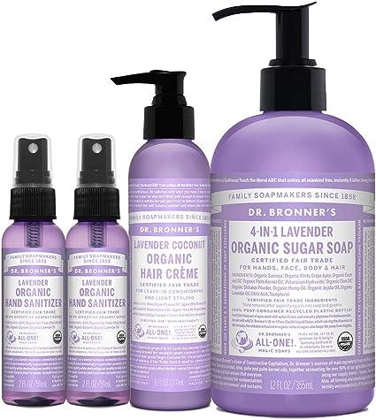 Amazon Com Dr Bronner S 4 Piece Organic Lavender Gift Set 2 2