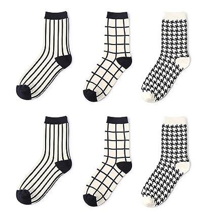 Calcetines par marea calcetines rayas pata de gallo cuadrado calcetines de Inglaterra moda personalidad de negocios