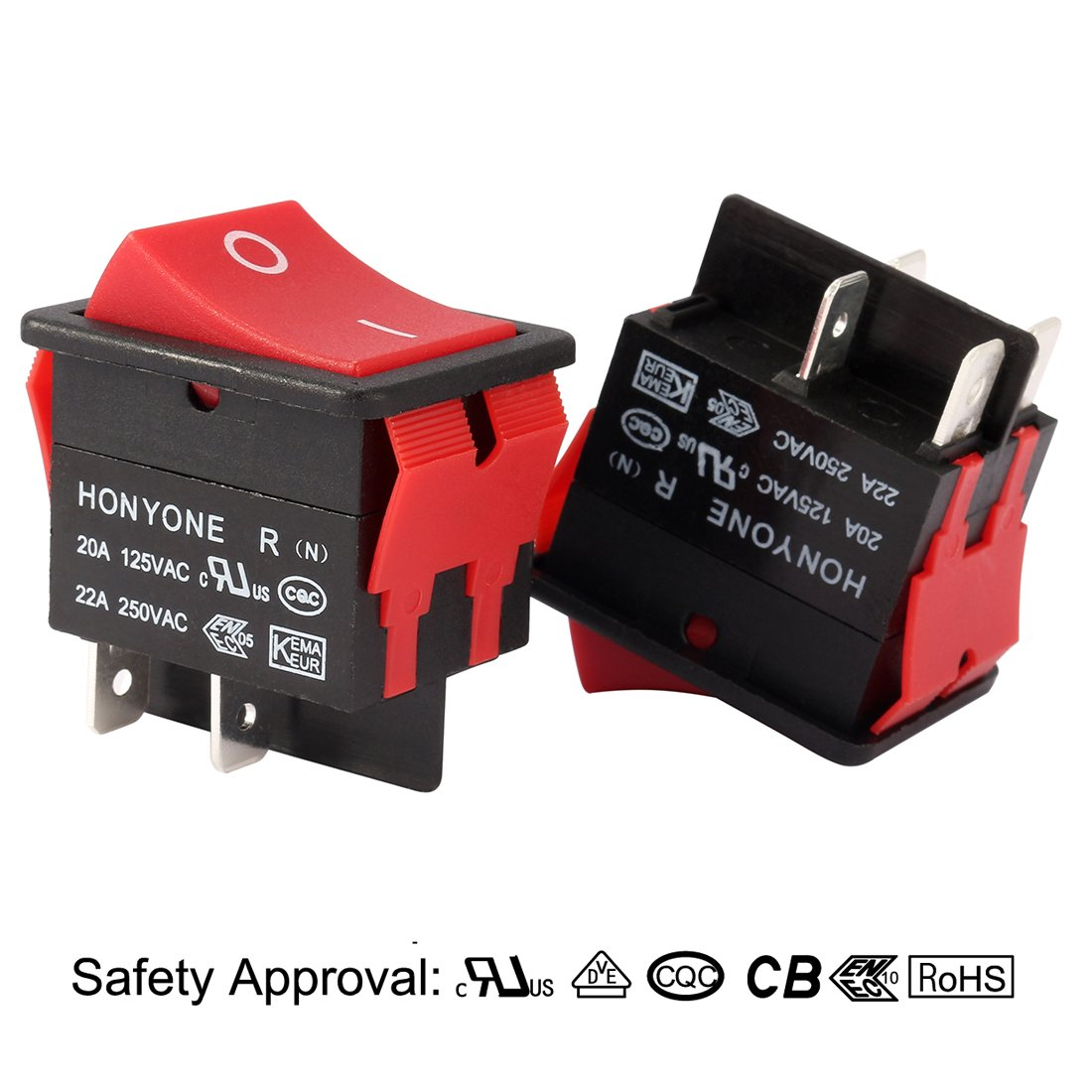 Uxcell Dpst 2 Position On Off Rocker Toggle Switches Fire Inc Restaurant System Parts Ansulstyle Dpdt Microswitch 4pin For Boats Ac 125v 20a 250v 22a Sports Outdoors