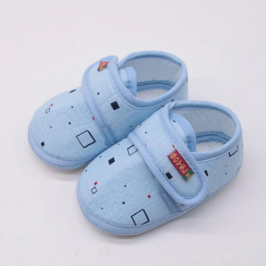 FORESTIME/_baby shoes Newborn Baby Girl/&Boy Soft Soled Non-Slip Block Print Footwear Hook/&Loop Crib Casual Shoes