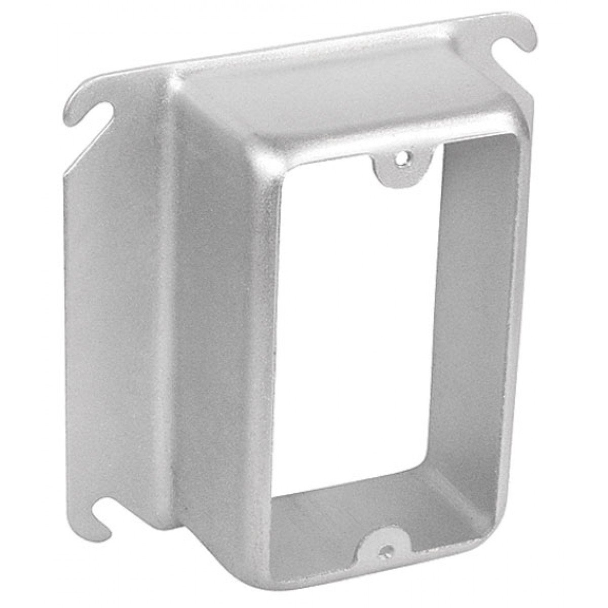2 Pcs, Steel 4'' Square One Gang Device Ring, 1-1/2 In. Raised Used w/4In Square Boxes to Mount Switches, Receptacles & Devices