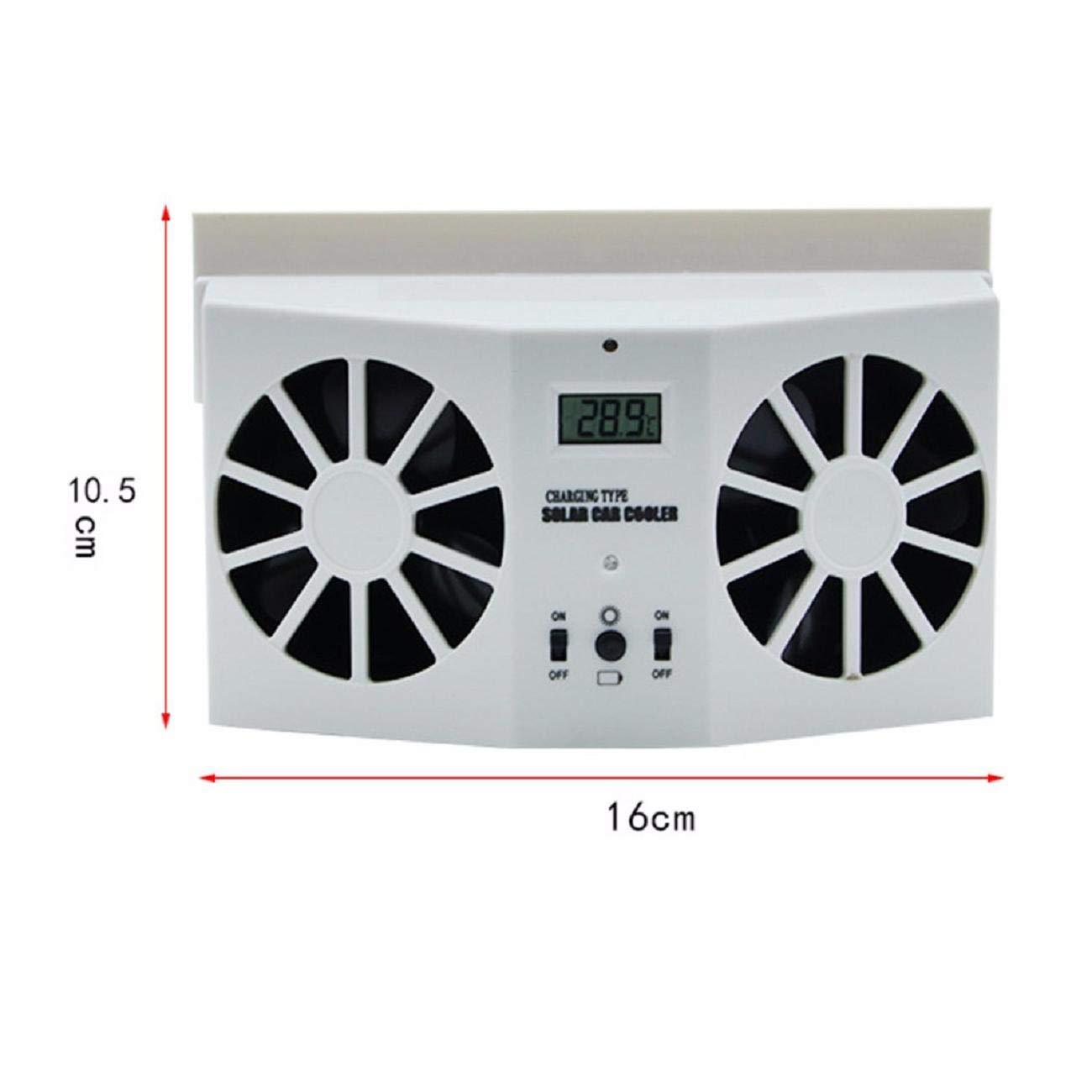 GreatFun Durable Solar Powered Auto Car Window Air Vent Ventilator Mini Air Conditioner Cool Fan Eliminate The Peculiar Smell Inside The Car