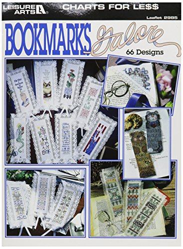LEISURE ARTS-Charts For Less: Bookmarks Galore - Leisure Arts Pad