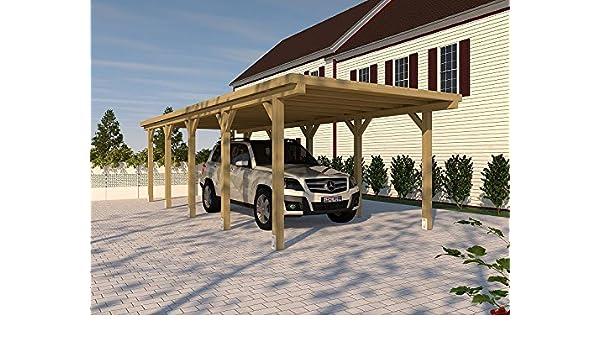 CarPort (tejado plano) Silverstone XVIII 300 x 800 cm, Montar: Amazon.es: Jardín