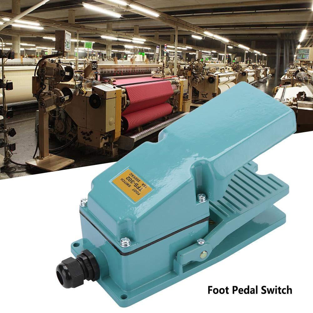 Commutateur de p/édale AC 250V 15A dur/ée de vie non-glissante en aluminium commutateur /électrique momentan/é de p/édale m/écaniques 1 000 000 de fois
