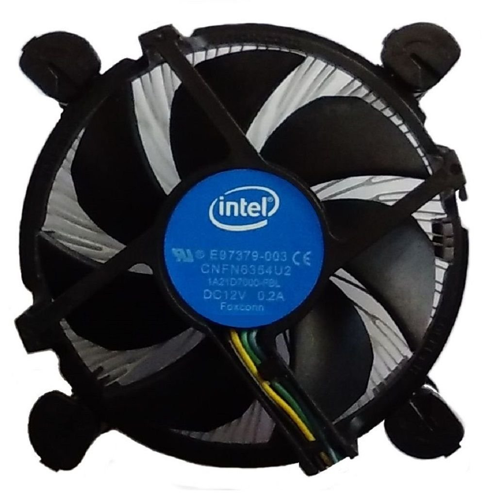 Intel Core i3 / i5 / i7 Socket 1156/1155 / 1151/1150 4-Pin Connector CPU Cooler With Aluminum Heatsink & 3.5-Inch Fan With Pre-Applied Thermal Paste For Desktop PC Computer (TS7) by TronStore (Image #1)