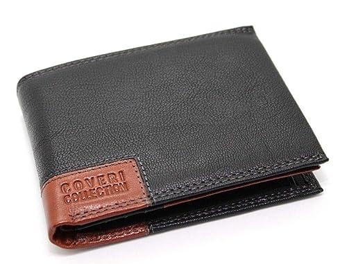 4ed90694e3 Portafoglio in Vera Pelle uomo con portamonete porta carte e ribaltina  ENRICO COVERI (Nero)