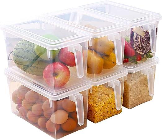 Refrigerador Caja de Almacenamiento 6 Cajas de Almacenamiento ...