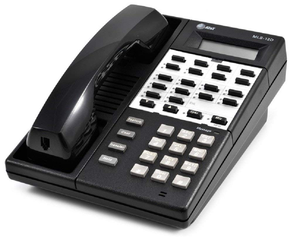 Avaya MLS 12D Telephone Black (Certified Refurbished) by Avaya