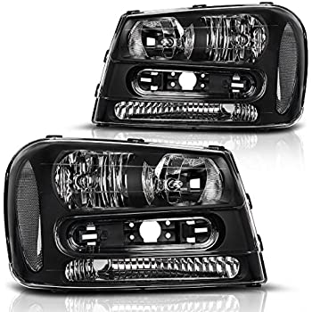 Amazon Headlights Depot Replacement For Chevy Trailblazer New. For 2002 2003 2004 2005 2006 2007 2008 2009 Chevy Trailblazer Headlight Assembly Wfull Width Grille Headl Replacement Amber Reflector Driver. Chevrolet. 2006 Chevrolet Trailblazer Headlights Schematic At Scoala.co