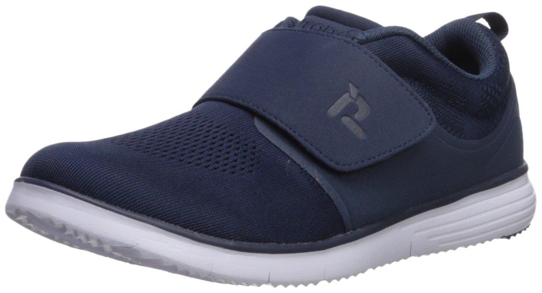 Propet Women's TravelFit Strap Walking Shoe, Navy, 7 2E US