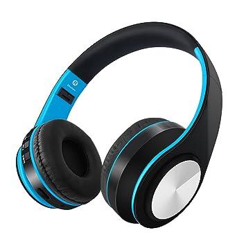 Docooler Auriculares inalámbricos BT Plegables Sobre la Oreja Auriculares estéreo de música Tarjeta TF Reproductor de