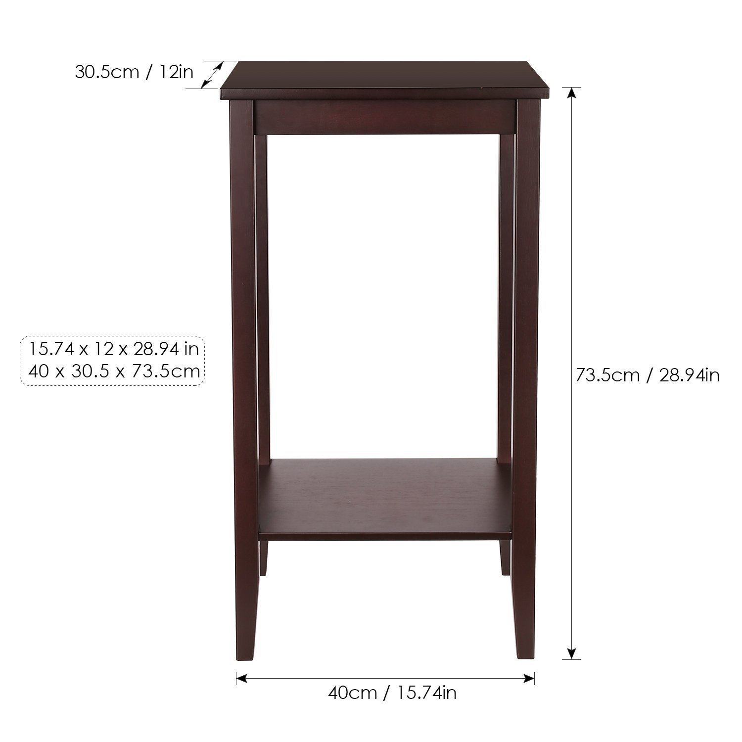 Indoor Multi-function Accent table Study Computer Desk Bedroom Living Room Modern Style End Table Sofa Side Table Coffee Table Modern Coffee Table by DASII (Image #2)