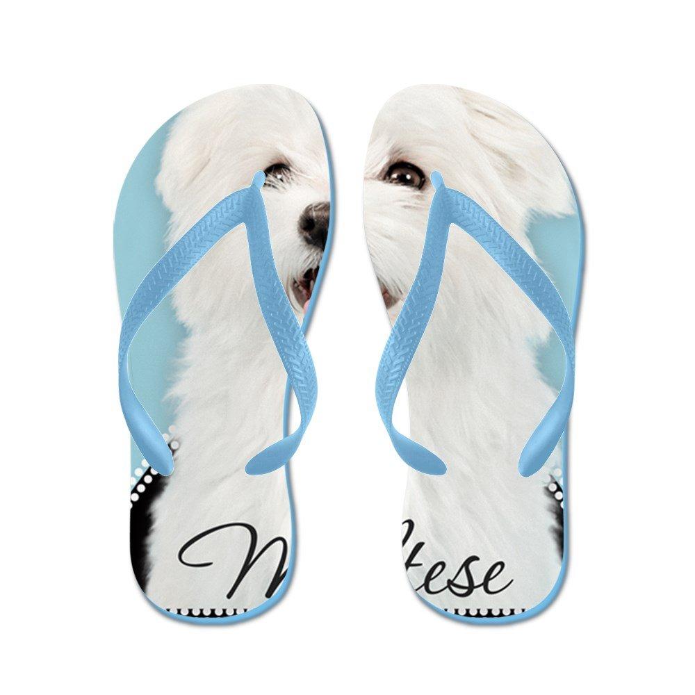CafePress Cute Maltese - Flip Flops, Funny Thong Sandals, Beach Sandals