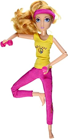 Asana Yoga Girl Flexible Full Range of Motion Yoga Doll with Accessories