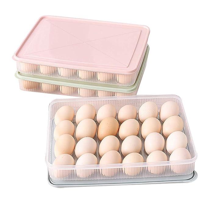 Sipliv huevo titular de la bandeja de huevos portador con tapa ...