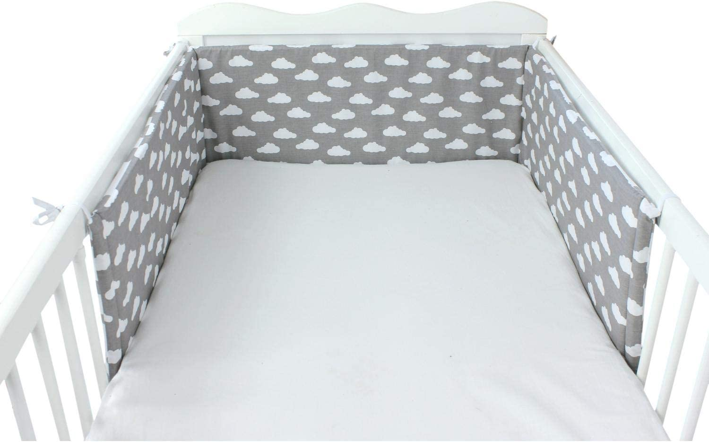 210x30cm TupTam Protector para Cama de Beb/é Acolchado Cuna 140x70 Blanco