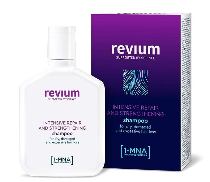 Revium - Champú reparador intenso y anticaída con molécula 1-metilnicotinamida para cabello seco y dañado, 200 ml