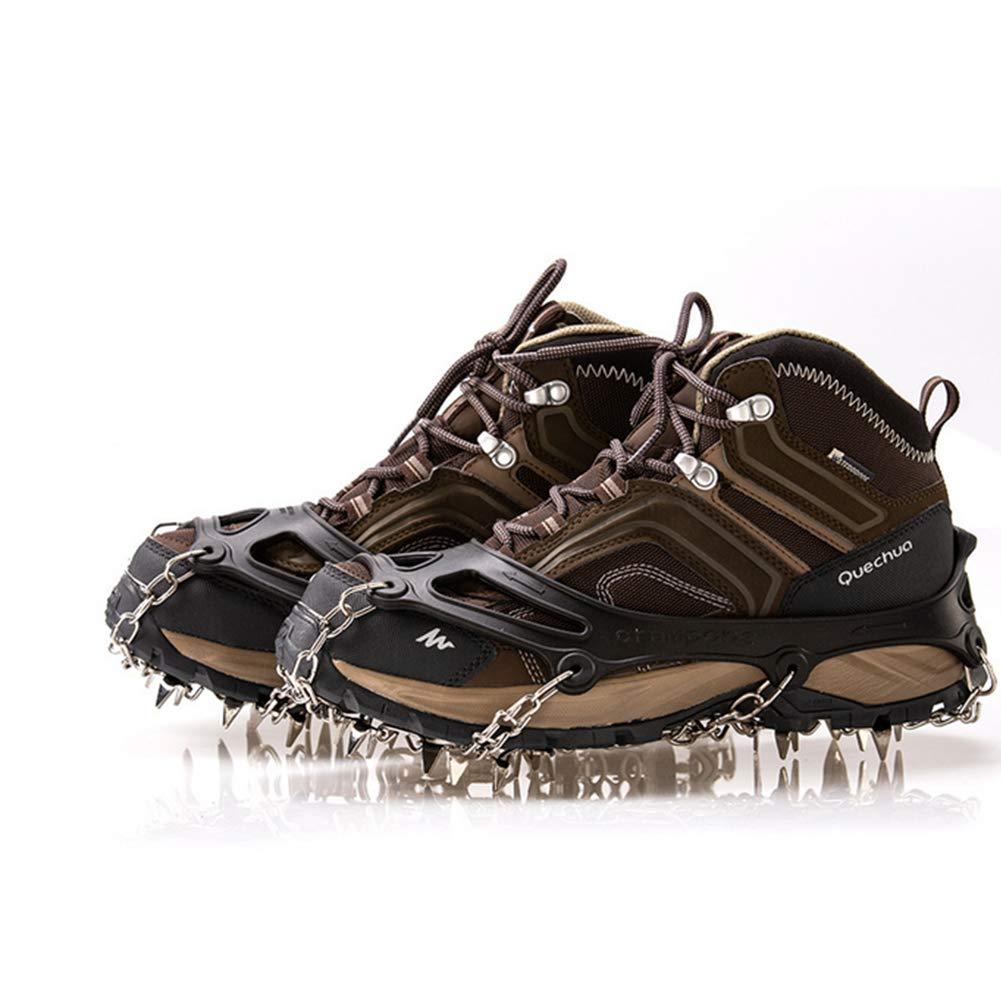 TZTED Crampones Dientes y Garras Cubierta Antideslizante de Zapatos Tracción de Hielo Alpinismo Glaciar,Black: Amazon.es: Deportes y aire libre