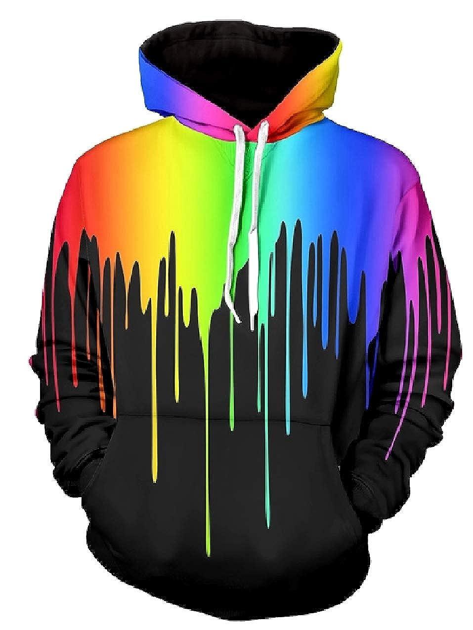 Zimaes-Men Unisex Pullover Funny Multicolor Casual Sweatshirt Hoodies