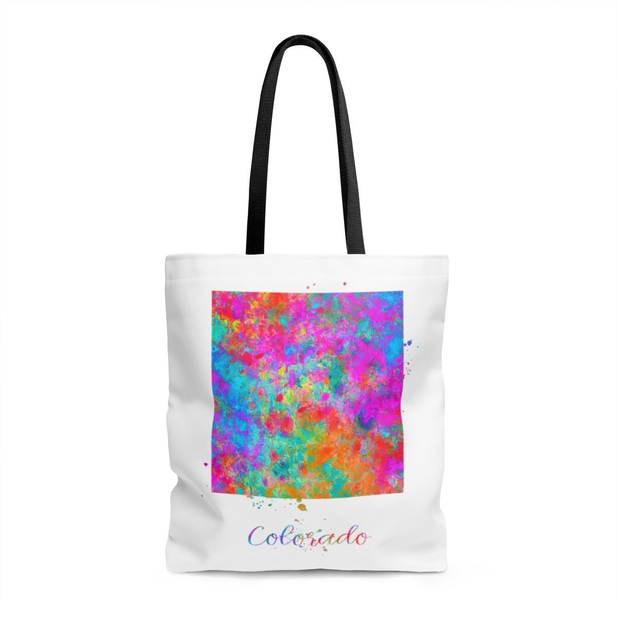 Colorado Map Tote Bag, Books Bag, Beach Bag, Shopping Bag