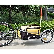 remolque de bicicleta de una rueda