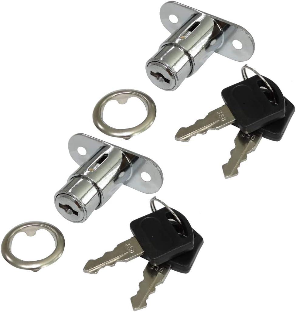 4x Cerraduras y llaves para puerta de mueble caj/ón con bot/ón C41400 AERZETIX