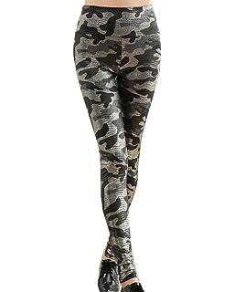 Leggins Camuflaje Mujer Pantalon Impresas Leggins Slim Fit Pantalones Legging Pantalones Elásticos