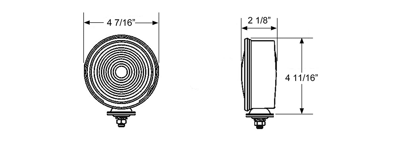 Blazer B3552R Single Face Multi Function Lamp