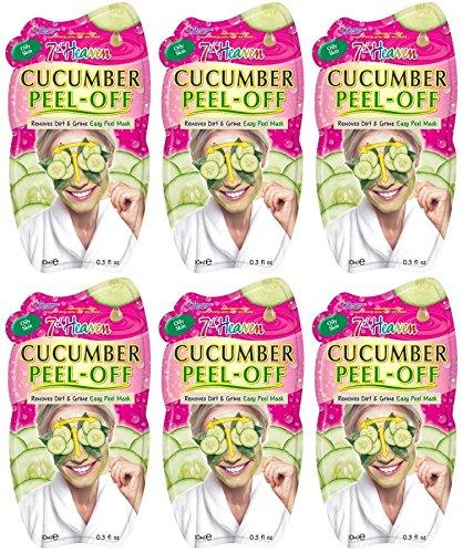 Montagne Jeunesse Cucumber Peel Off 10 ml Masque Sachet - Pack of 6