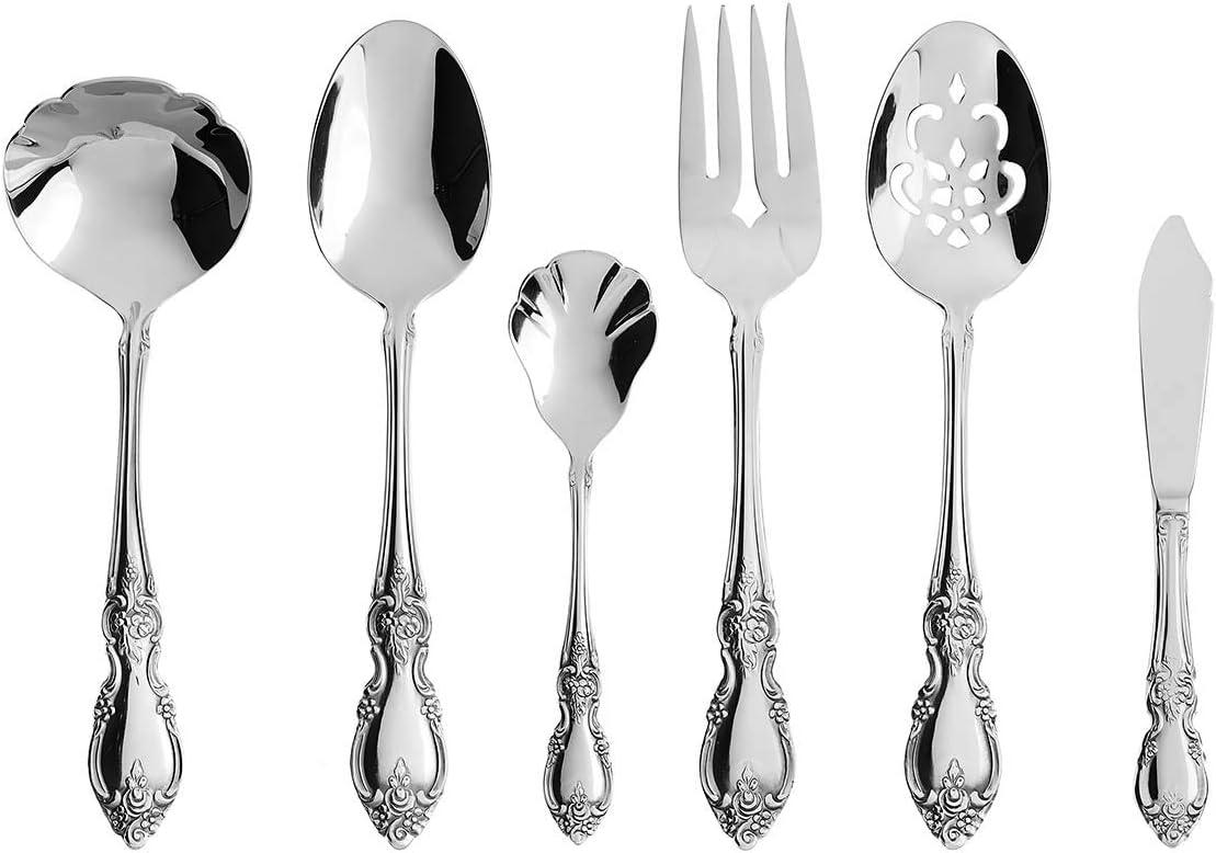 SET OF SIX Oneida Stainless Flatware LOUISIANA Dinner Knives NEW