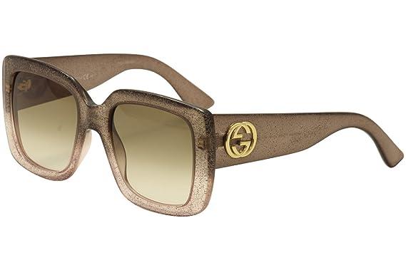Gucci - GG 3814 S, Géométriques, optyl, femme, GLITTER BROWN SHADED ... 327faaf467b1
