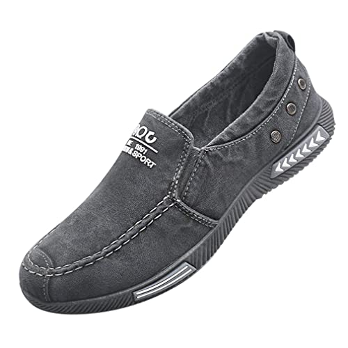 Hibote Homme Femme Casual Chaussures Respirant Sneaker Mocassin Unisexe Chaussures Plates Chaussures de Travail Chaussures Classique Slip on Low Top