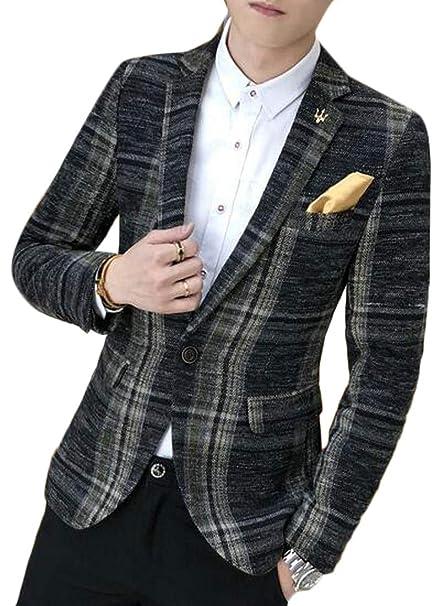Amazon.com: Fensajomon - Chaqueta para hombre, estilo ...