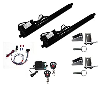 amazon com complete linear actuator kit includes 2 black heavy complete linear actuator kit includes 2 black heavy duty 12 volt linear actuators