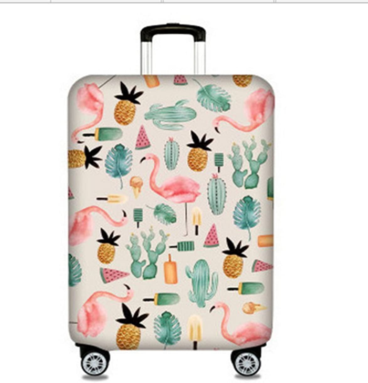 Fits 18-32 Inch Luggage PINGJING Flamingo Travel Luggage Cover Dust-proof Case