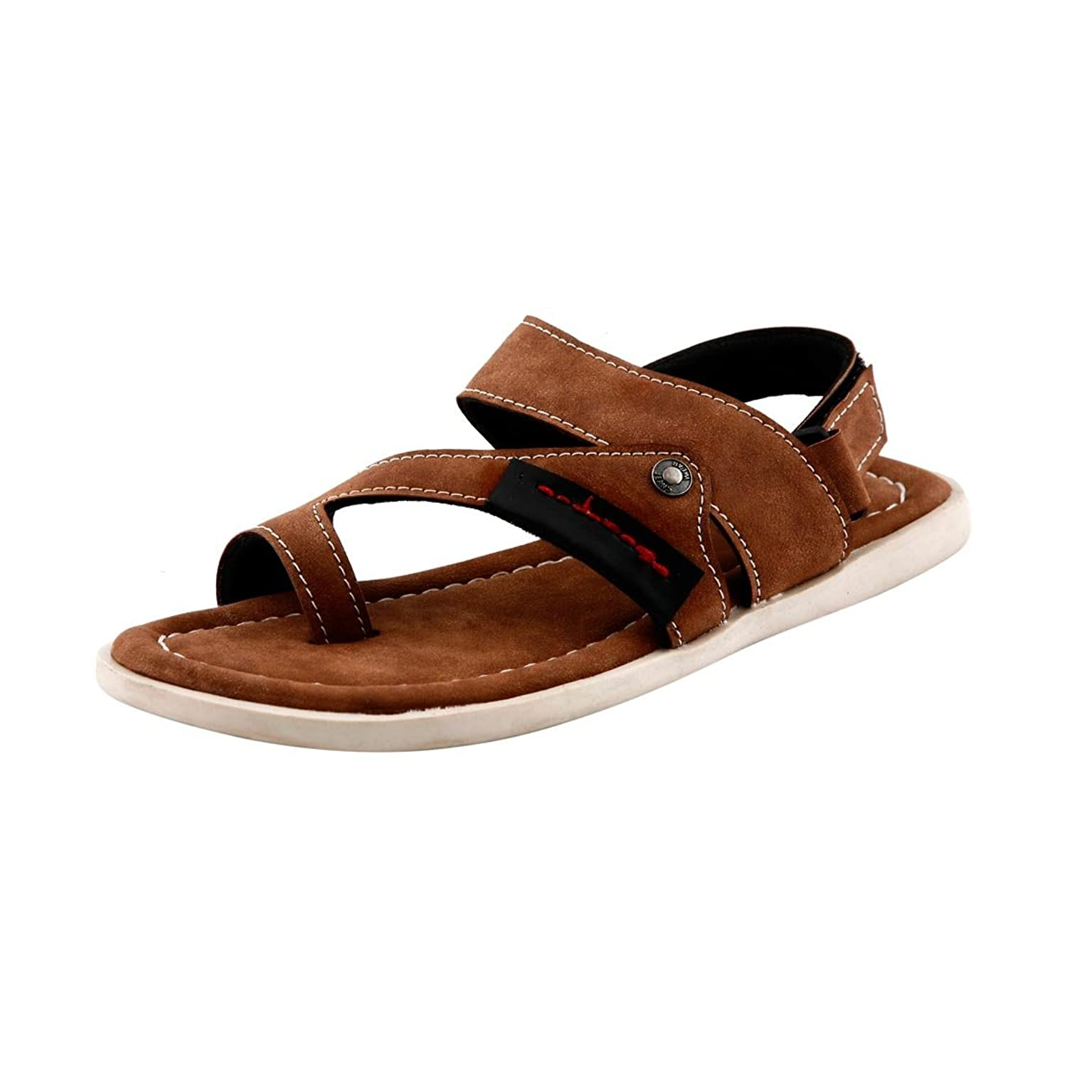 Bacca Bucci Men's Bbme6006C Brown Leather Casual Sandals