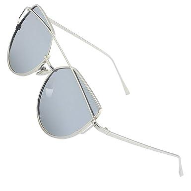 negozio online 0f7d7 9d2c6 CGID MJ74 Occhiali da Sole Donna Moderni Fashion a Specchio Occhio di Gatto  Lenti Polarizzate UV400