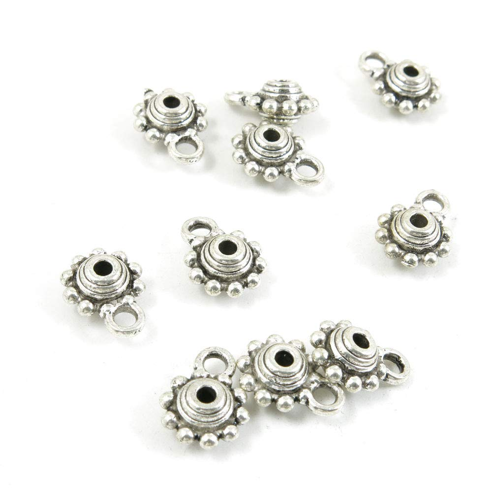 1230 Pieces Antique Silver Tone Jewelry Making Charms Crafting Beading Craft B3XP4 Bails Cord Ends