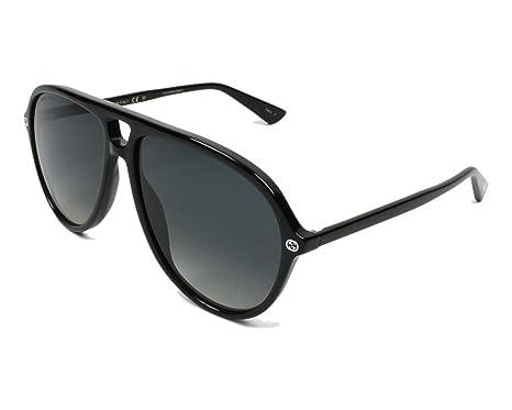 Gucci Herren Sonnenbrille GG0119S 001, Schwarz (Black/Brown), 59