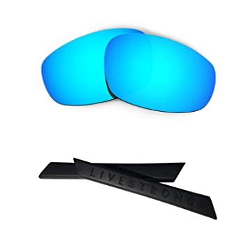 HKUCO Black/Titanium Polarized Replacement Lenses plus Yellow Earsocks Rubber Kit For Oakley Split Jacket AMaPf7Y1