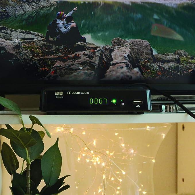 August Sintonizador de 1080p HD (DVB415) HDMI y Scart con receptor DVB-T/T2 y reproductor multimedia para grabar sus programas favoritos () Negro: Amazon.es: Electrónica