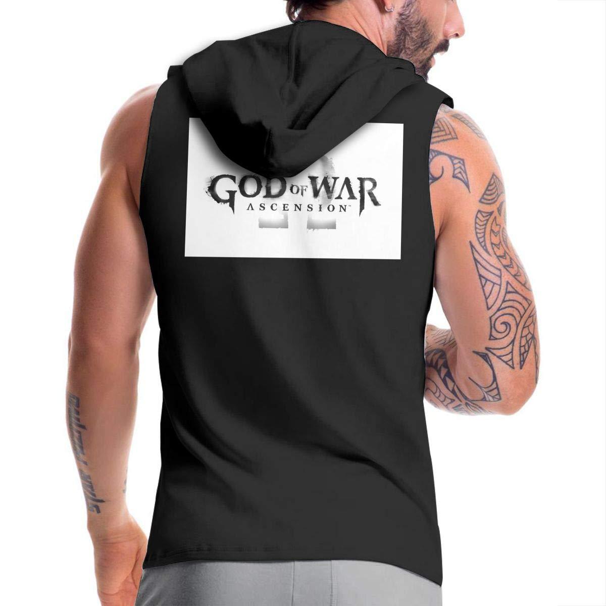Kinggo Personalized Man with Hood Sack God of War Ascension Casual Zipper Sweatshirt