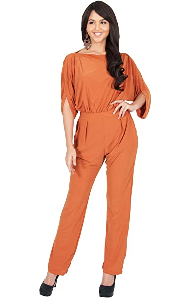 53a54aa4eb27 Koh Koh Petite Womens Short Sleeve Sexy Formal Cocktail Casual Cute Long  Pants One Piece Fall