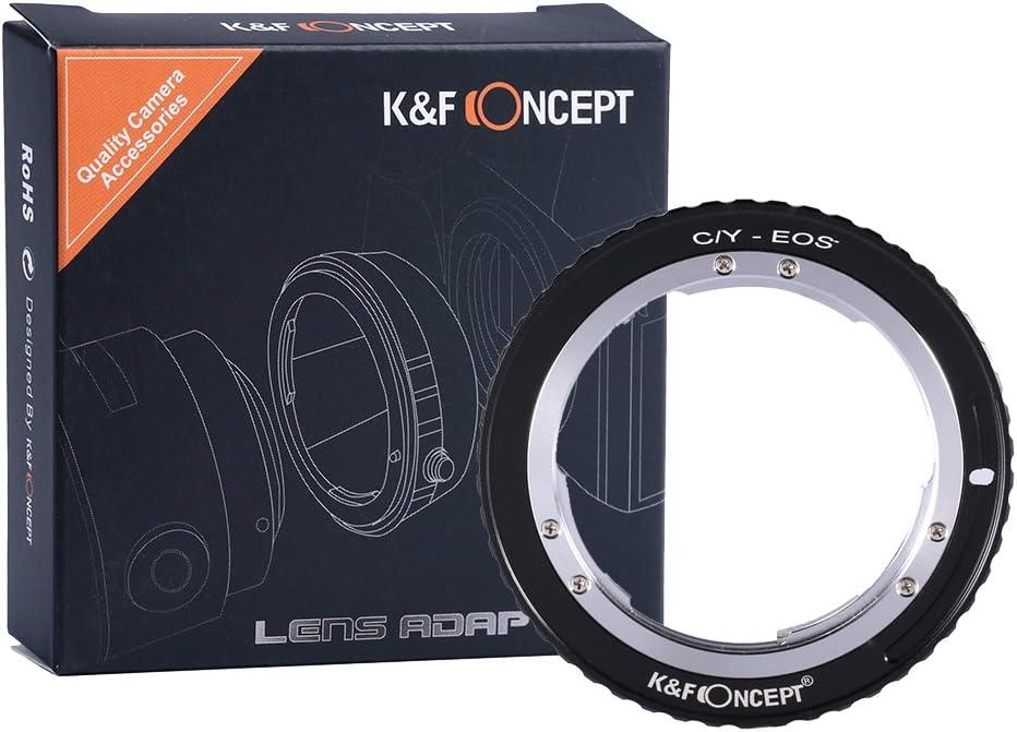 K&F Concept - Adaptador para Montar Lentes Contax/Yashica CY C/Y Mount a Montura Canon EF EF-S EOS Mount para Canon EOS 1300D 200D 750D 80D D60 D40 D80