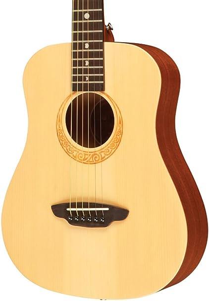 Luna Guitars Saf Tattoo satin Safari Polynesian Tattoo Travel Profile Guitar