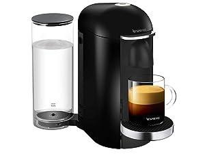 Nespresso VertuoPlus Deluxe Coffee and Espresso Machine, Black