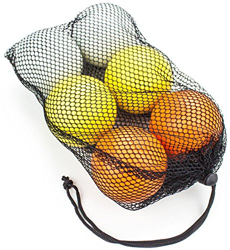 Set of 6 Regulation Size Lacrosse Balls in Mesh Bag - Choose Style! by Brybelly (Image #1)
